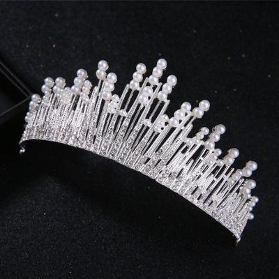 wearing a wedding tiara